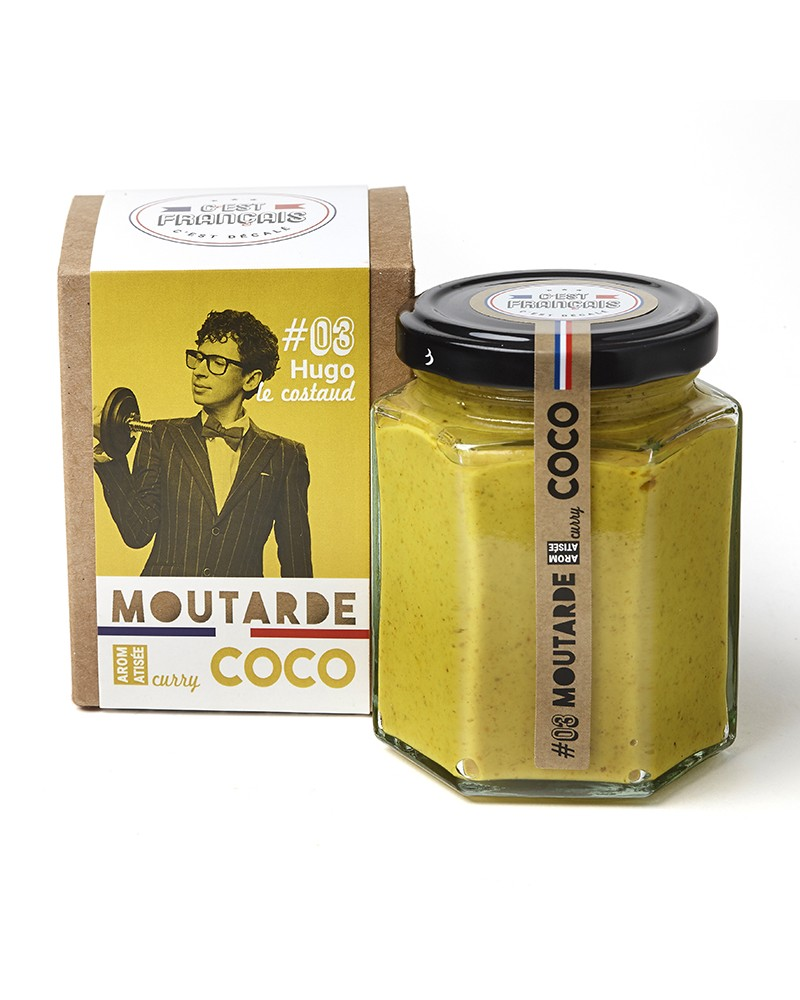 Moutarde aromatisée curry coco
